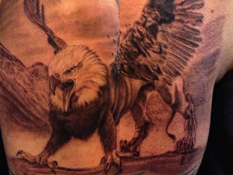 Татуировка грифон