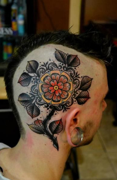 Татуировка на голове