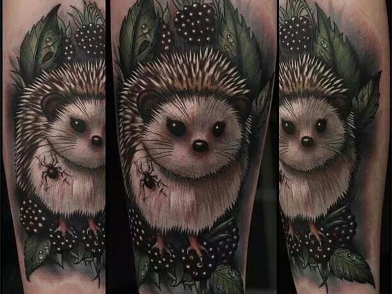 Татуировка еж