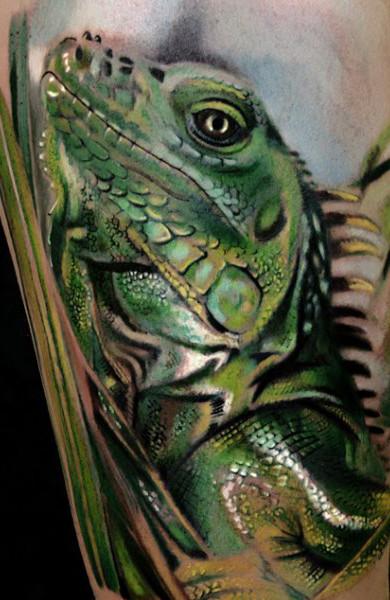 Татуировка игуана