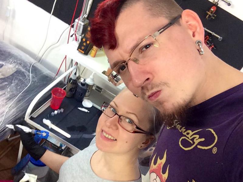 Иннокентий Siam со своей женой Натальей Graffyca в студии