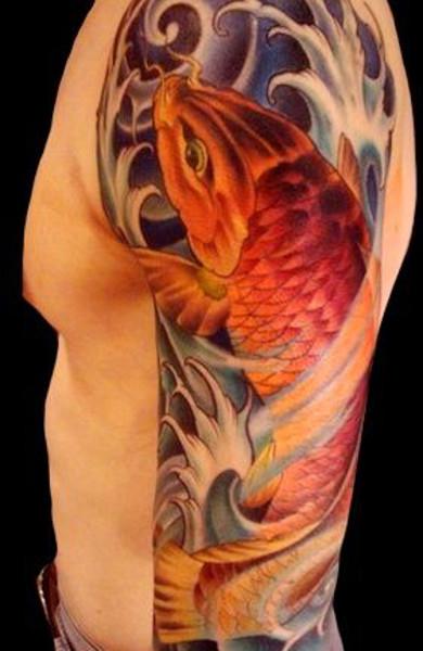 Татуировка японский карп