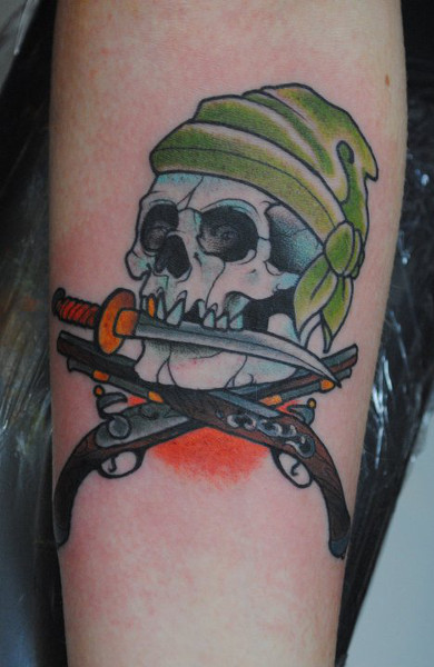 Татуировка Веселый Роджер