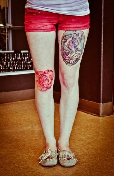 Татуировка на колене