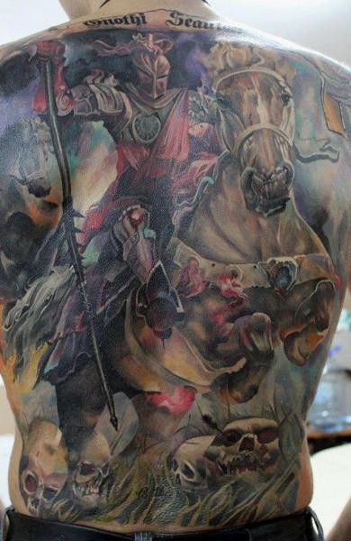 Татуировка рыцарь