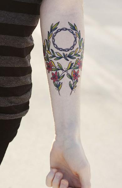Татуировка лавровый венок