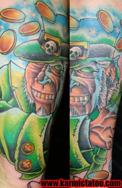Татуировка лепрекон