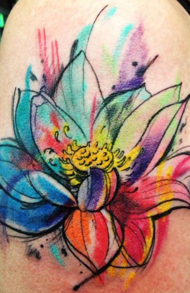 эскиз татуировка лотос