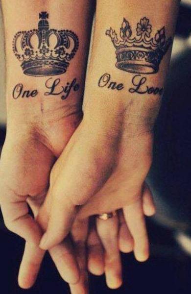 Татуировка одна жизнь - одна любовь
