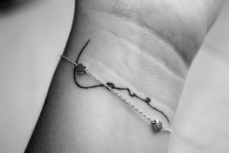 Татуировка надпись любовь на запястье