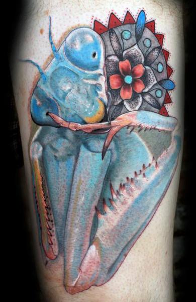 Татуировка богомол