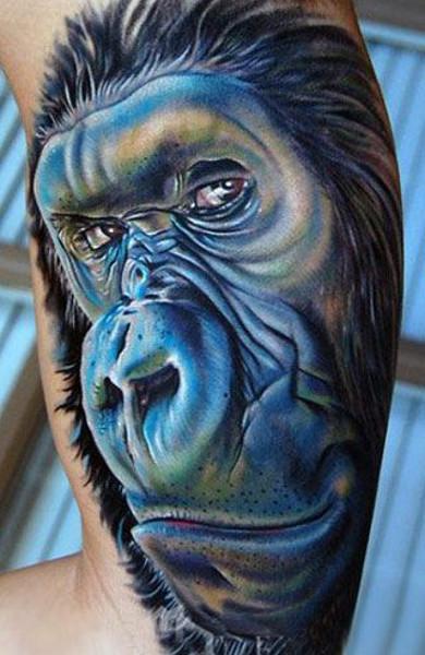 Татуировка обезьяна - значение, фото - Тату студия Барака 25