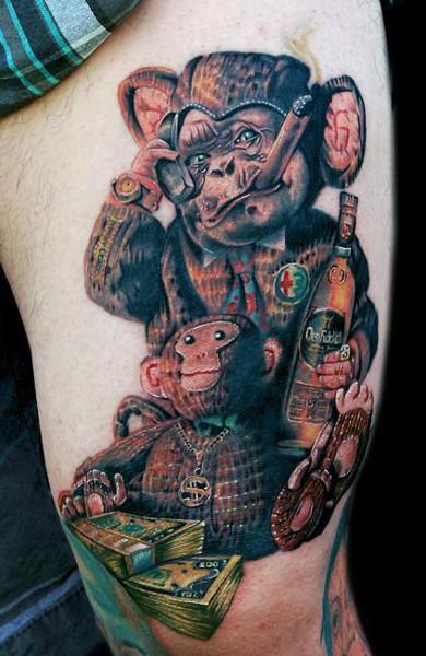 Татуировка обезьяна - значение, фото - Тату студия Барака 1
