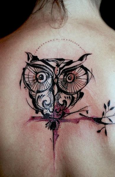 Татуировка сова