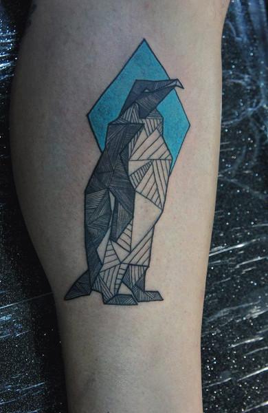 Татуировка пингвин