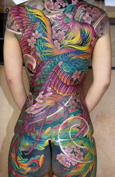 Татуировка феникс - 50 фото. Мистическая символика ...