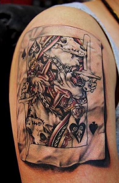 эскиз тату игральные карты