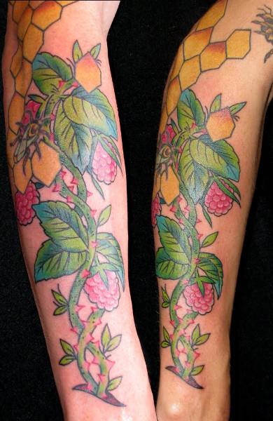Татуировка малина