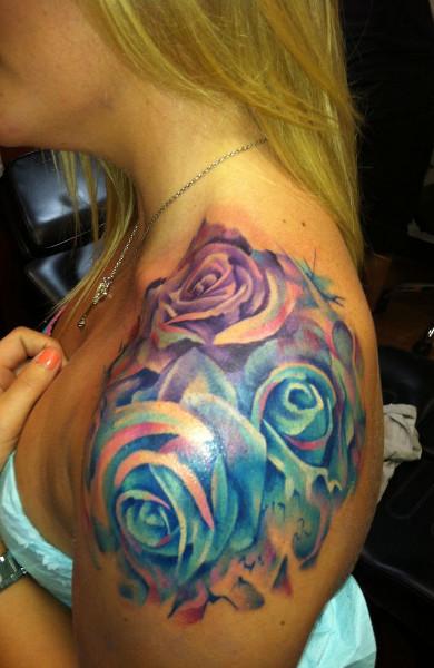 Видео татуировки роза