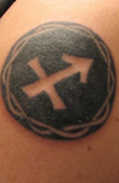 Татуировка знак зодиака Стрелец