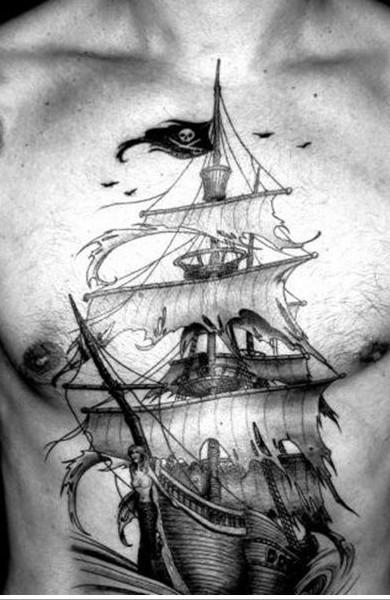 Татуировка парусник