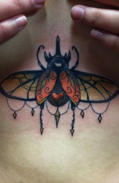 Татуировка скарабей