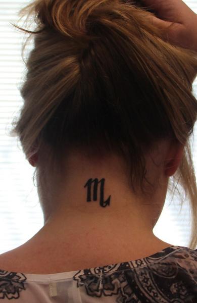 Татуировка знак зодиака скорпион