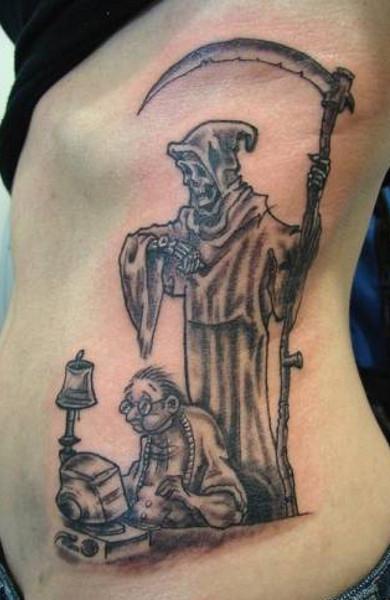 эскиз татуировка смерть с косой