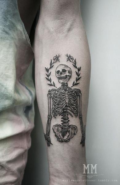 Татуировка скелет