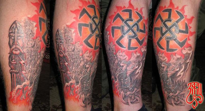 Татуировка солнцеворот