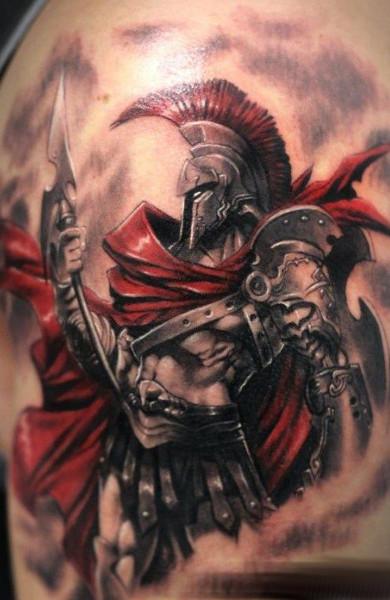 Татуировка спартанец