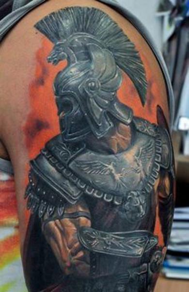 эскиз татуировка спартанец