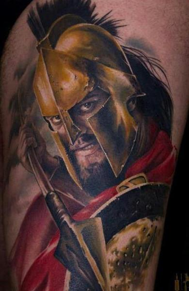 Фото татуировка спартанец
