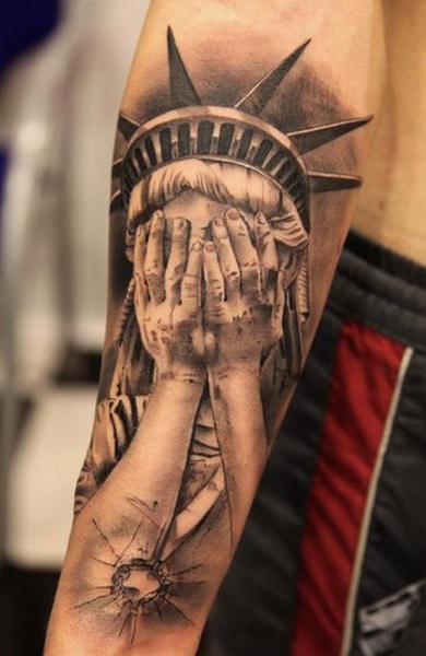 Татуировка Статуя Свободы