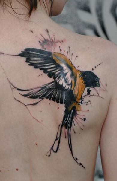 Татуировка ласточка