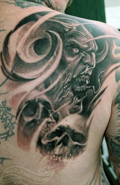 фото татуировка демон