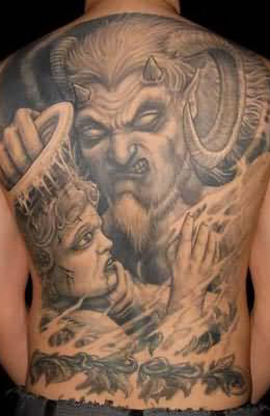 эскиз татуировка демон