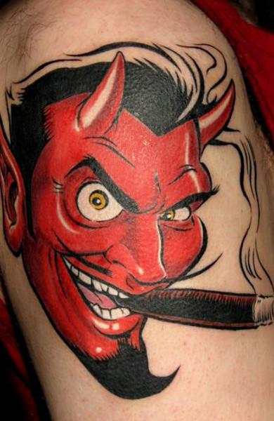 Татуировка дьявол