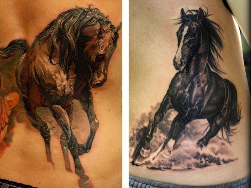 Galloping horse tattoo designs