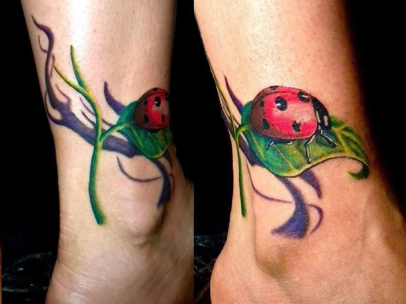 Татуировка на щиколотке