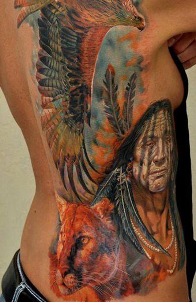 Татуировка на боку
