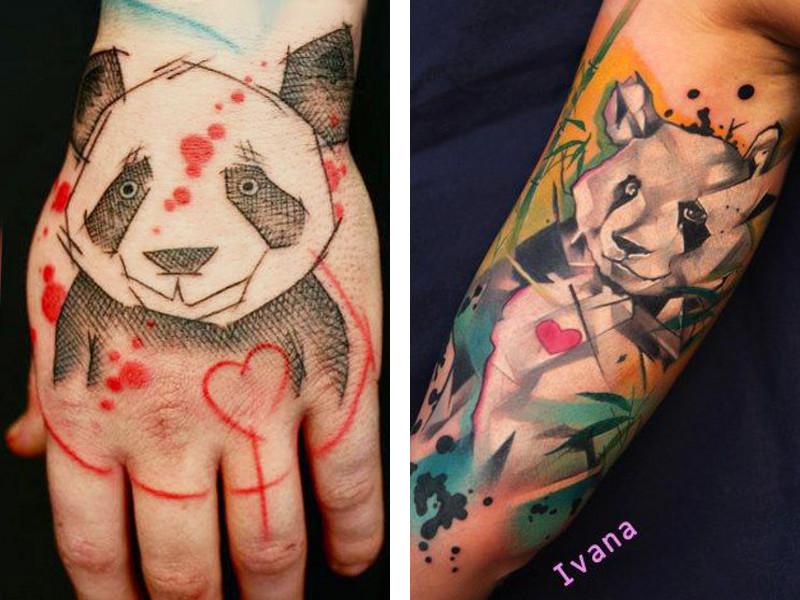 эскизы цветные тату руке для девушек