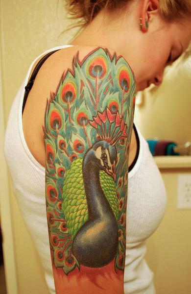 Татуировка павлин