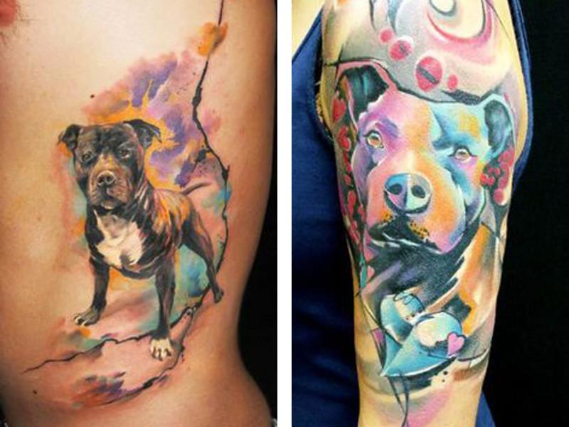 картинки собак тату