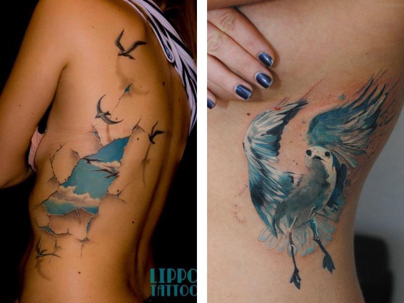 Татуировка чайка и ее значение