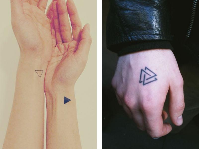Татуировка треугольник и ее значение