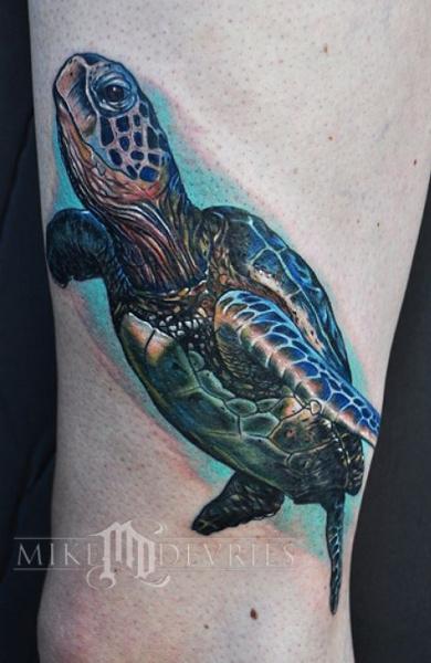 эскиз татуировка черепаха