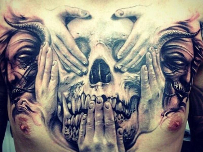 эскизы татуировок на грудь: