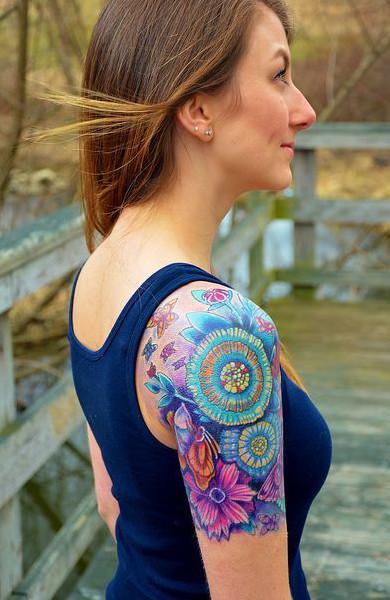 Татуировка на плече