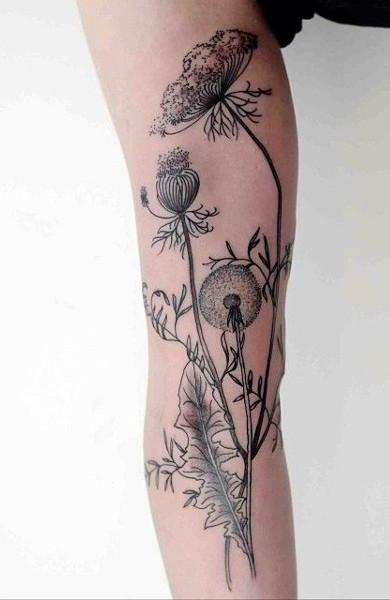 Татуировка чертополох